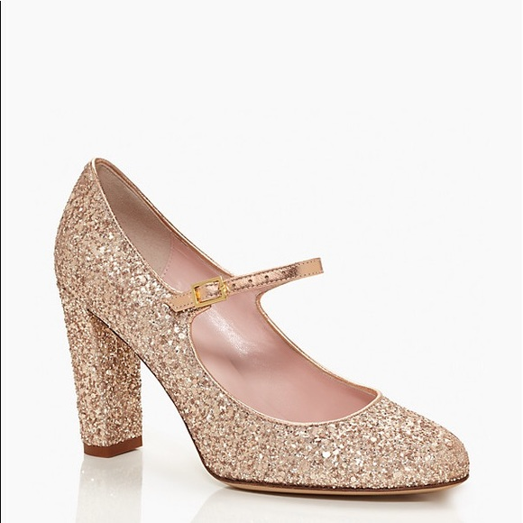 5a5d3a6801b7 kate spade Shoes - Kate Spade Angelique Gold Glitter MaryJanes 9 1 2